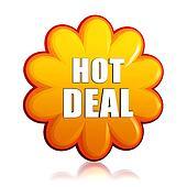 hot deal orange flower label