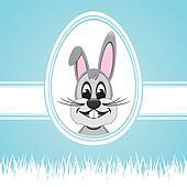 easter bunny white egg