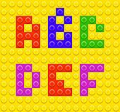 Lego blocks alphabet 1