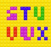 Lego blocks alphabet 4