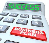Business Plan Success Strategy Words Calculator