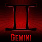 Gemini Red Black Burst Background