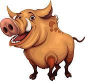 Clip Art Hog Clipart wild hog clip art royalty free gograph boar jumping boar