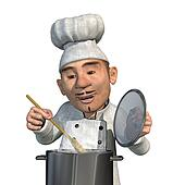 Chef Cooking a Meal