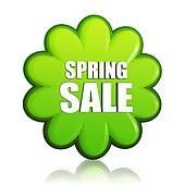 spring sale green flower label