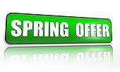 spring offer green banner