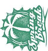Spring Break Vacation Stamp