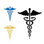 Caduceus medical symbol vector illustration.
