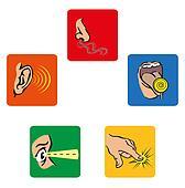 Five Senses Clip Art - Royalty Free - GoGraph