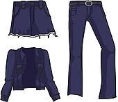 Denim fashion in navy