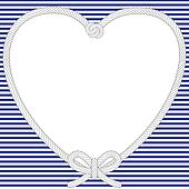 Nautical Valentine frame