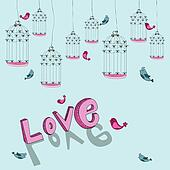 Valentine free bird love background