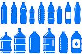 set of isolated water bottle icon