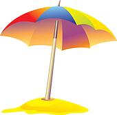 Beach Umbrella Stock Illustrations Gograph