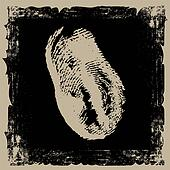 thumbprint on grunge background