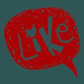 Like word in speech bubble
