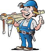 illustration of an Happy Carpenter
