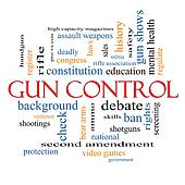 Gun Control Word Cloud Concept