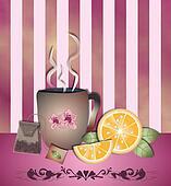 Tea time orange pink