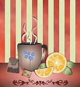 Tea time orange peach