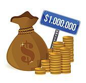 Million Dollars Clip Art - Royalty Free - GoGraph