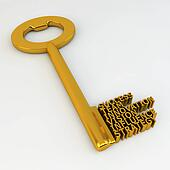 Success Team Innovation Vision Influence Strategy Golden Key Illustration
