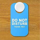 Do Not Disturb Blue Sign