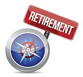 Retirement Plan and Compass, business concept