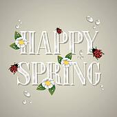 Happy spring background