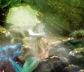 Young blonde mermaid