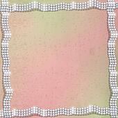 Abstract red background with white beautiful pearls