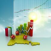Digital illustration of business