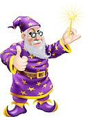 Thumbs up Wizard with Wand