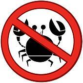 Stop Crab Sign
