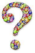 Bingo balls question mark