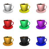 Nine Coffee Cups