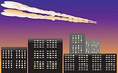 meteor in the atmosphere