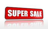 super sale red banner