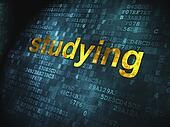Education concept: Studying on digital background