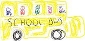 kids drawing - school bus