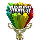 Winning Strategy Gold Trophy Words Winner Plan