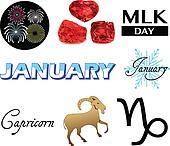 January Icons