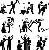 Abusive Husband Boyfriend Pictogram