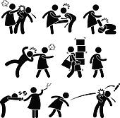 Abusive Wife Girlfriend Pictogram