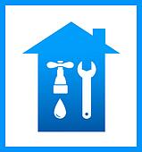 icon with plumbing faucet