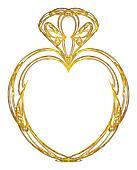 Gold heart design