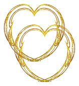 Double gold heart design