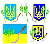 Emblem of Ukraine with symbolism