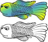 Happy Torpedo Shaped Fish