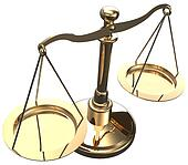 Scales weigh justice choice balance